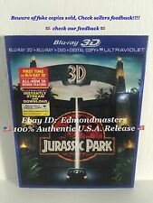 3D Jurassic Park (Blu-ray/DVD, 2013, 3-Disc Set, Includes Digital Copy) NEW!!
