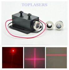 650nm 5mw Focusable Red Laser Dot Line Cross LED Diode Module w/12mm Heatsink