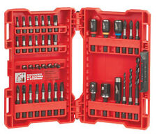 Milwaukee 40pc Shockwave Impact Screwdriver Hex Bit & Drill Bit Set #44-32-4006