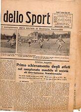 LA GAZZETTA DELLO SPORT DEL LUNEDI'  7  GIUGNO   1943    NR 135