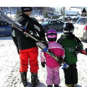 Ski Carrier Shoulder Lash Handle Binding Snowboard Straps Skiing Equipment LA
