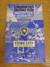 03/12/1966 Leicester City v Stoke City  (Light Fold, Team Changes). Thanks for v