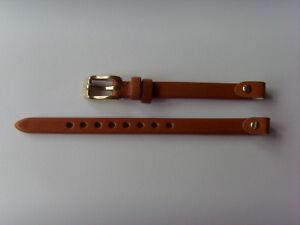 Fossil Original Rechange Bracelet en Cuir ES4000 de Montre Braun 7 MM Marron