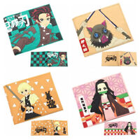 Anime cartoon Wallet Bifold Short Leather Credit card Purse Gift R05
