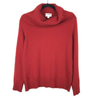 Charter Club Womens 100% Cashmere Red Cowl Neck Sweater Size Medium