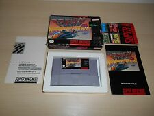 F-Zero Complete Super Nintendo Game CIB SNES Fzero