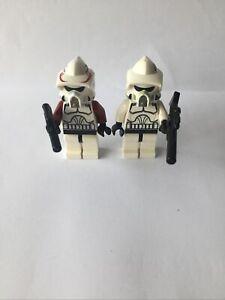 Star Wars LEGO mini figures x2 clone troopers,EC,RARE