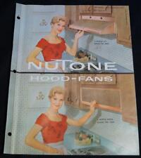 NUTONE KITCHEN STOVE HOOD EXHAUST FANS ADVERTISING SALES BROCHURE 1961 VINTAGE