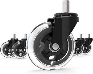 GBL 5Pcs Office Chair Castor Wheels RollerBlade Style Caster Rubber Replacement