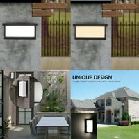 Modern Outdoor Wall Sconce Square LED Porch Light Corner Wall Lamp Fixture US