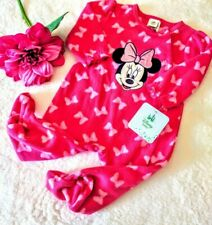 Disney pink minnie mouse sleepwear footed pajamas baby girl NWT one piece