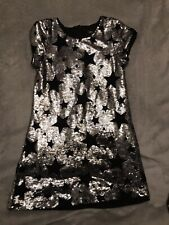 Girls Sparkle Sequin Dress Silver Gold Red Green Ages 4-14 Trend Prom 60/'s Dance
