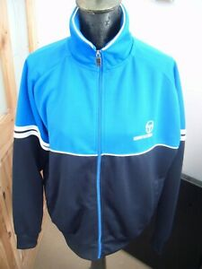 SERGIO TACCHINI BLUE TRACKSUIT TOP - SIZE L - USED - EXCELLENT