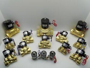 KLOD SOLENOID VALVE AIR WATER GAS OIL BRASS NORMALLY CLOSED 12V 24V 240V BSP