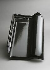 Dachziegel M-PLUS diamantschwarz (Glasur) / Flachdachziegel Tondachziegel