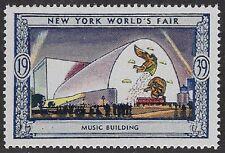 Usa Poster stamp:1939 New York World's Fair: Music Building - dw433/14