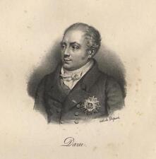 Portrait de Daru lithographie XIXème