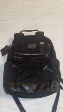 TUMI multi pocket black backpack with laptop holder