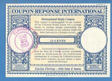 1957 COUPON REPONSE INTERNATIONAL  ELKHART 13 CENTS 976