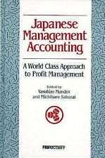 Japanese Management Accounting: A World Class Approach to Profit Management