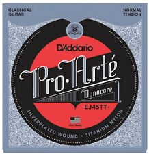 D'Addario EJ-45TT Pro-Arté Dynacore Classical Titanium Trebles, Normal Tension