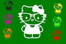 Hello Kitty Spiegel Auto Aufkleber Sticker 10cm x 12cm Fun Windschutzscheibe