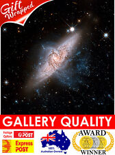 NEW Galaxies NGC 3314, NASA Space, Hubble Telescope, Giclee Art Print or Canvas