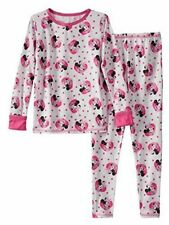 XS Cuddl Duds Chill Chasers Disney Minnie Mouse Toddler Girls Long Underwear(B50