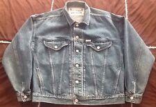 Vintage GUESS USA Jean Jacket Denim American Cut Trucker Men's LG Made In USA