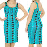 VOODOO VIXEN BLUE WIGGLE PENCIL ROCKABILLY  DRESS GOTH ALTERNATIVE VINTAGE