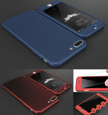 New Hybrid 360° Shockproof Slim Hard case Cover & Tempered Glass for Samsung