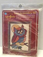 Vintage 1980 Boye Needle Company Punch Loop Embroidery Kit OWL 7920 Craft NIP