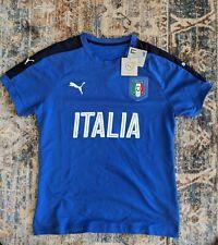 New Puma Italy Soccer Shirt Adult Large Blue White Futbol Football Italia Mens