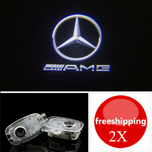 2x LED Logo Laser Door Courtesy Lights For Mercedes Benz W221 S-Class 2006-2013
