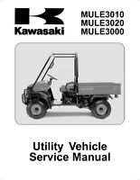 Kawasaki Mule 3010 3020 3000, 2001 2002 2003 2004 2005 2006 2007 Service Manual
