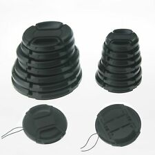 10PCS 49mm Center-Pinch Snap-On Front Lens Cap with Cord for Canon Nikon Pentax