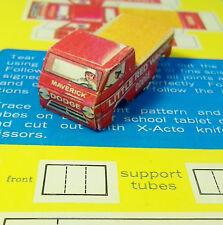 HO Slot Car Paper Body, Vintage AURORA AFX Tjet 500 Body  Dodge Little Red Wagon