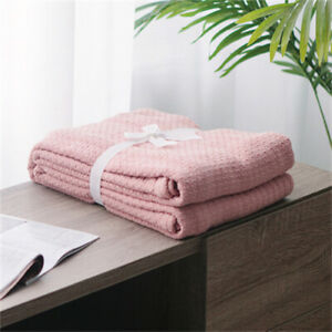 pure cotton towel blanket sofa blanket soft thin bed cover for summer multi size
