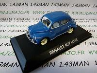 voiture 1/43 atlas voiture de mon père : RENAULT 4cv LUXE bleu