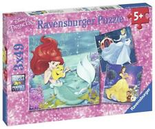 Ravensburger DISNEY PRINCESS PRINCESS ADVENTURE 3 X 49PC JIGSAW PUZZLES BN