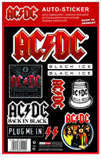 AC/DC  official CAR STICKER SET  Aufkleberset  diverse Motive  ACDC  Angus Young