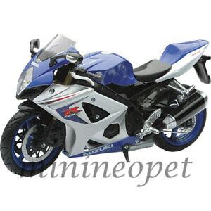 NEW RAY 57003 A 2008 SUZUKI GSX R1000 MOTORCYCLE BIKE 1/12 BLUE WHITE