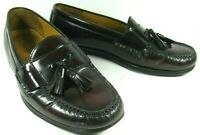Cole Haan Men's Shoes Loafers Burgundy Leather Pinch Penny Hand Sewn 9.5M
