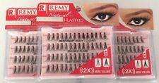 NEW LOT OF 3 RESPONSE 134D REMY NATURAL DOUBLE I-LASHES DOUBLE FLARE LONG BLACK