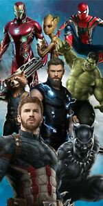 Avengers Endgame Infinity War Beach Towel Spiderman Groot Rocket Ironman