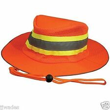 LOT OF 6 Orange Booney Construction Hat LG / XL Vented Reflective Lighweight