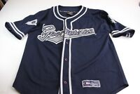 Colosseum Athletic Embroidered Georgetown Thick Baseball Jersey Shirt Large l