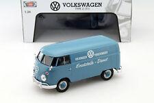 Volkswagen VW Type 2 T1 Ersatzteile-Dienst blau 1:24 MotorMax
