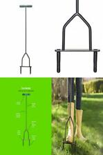 Yard Butler Lawn Coring Aerator Manual Grass Dethatching Turf Plug Core...