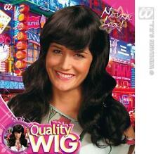 Lungo Nero Parrucca Wavey con Frangia Katy Perry